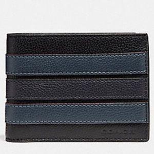 Coach Varsity Stripe Billfold Slim Wallet